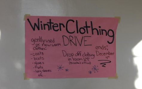 Winter Clothing and Blood Drives