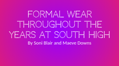 Formal Attire Throughout the Years at South High